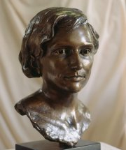 KATE: Life size bronze portrait