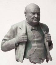 WINSTON CHURCHILL: Life size portrait