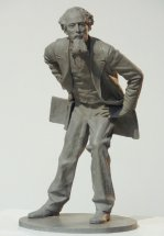 CHARLES DICKENS: Private commission bronze sculpture for Dickens family