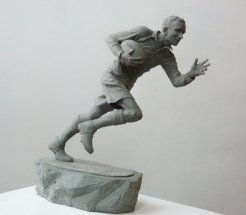 KEN JONES: Maquette for commemorative statue - Welsh Rugby player